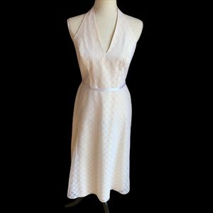 Watters WToo cream colored eyelet dress